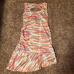 Colorful striped LOLE athletic dress. Multicolor